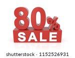eighty percent sale. 3d... | Shutterstock . vector #1152526931
