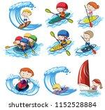 a set of water sport... | Shutterstock .eps vector #1152528884