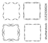 set of vector vintage frames on ... | Shutterstock .eps vector #1152530024