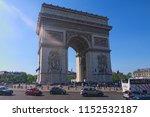 paris  france may 06  2018 ... | Shutterstock . vector #1152532187