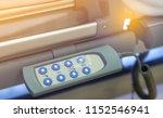 Closeup remote control panel of ...