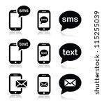 mobile sms text message mail... | Shutterstock .eps vector #115255039