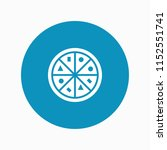 pizza icon vector | Shutterstock .eps vector #1152551741