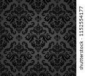 classic seamless vector dark... | Shutterstock .eps vector #1152554177