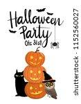 halloween party invitation card ... | Shutterstock .eps vector #1152560027