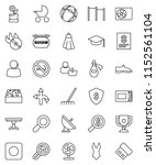 thin line vector icon set  ... | Shutterstock .eps vector #1152561104