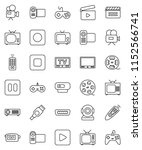thin line vector icon set  ... | Shutterstock .eps vector #1152566741