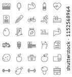 thin line vector icon set  ... | Shutterstock .eps vector #1152568964