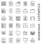 thin line vector icon set  ... | Shutterstock .eps vector #1152569114