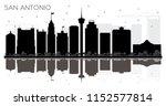 san antonio texas city skyline... | Shutterstock . vector #1152577814