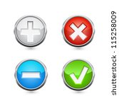 delete and add buttons. vector | Shutterstock .eps vector #115258009