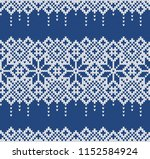 knitted sweater design with... | Shutterstock .eps vector #1152584924