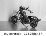 a toy motorcycle. the figure is ... | Shutterstock . vector #1152586457