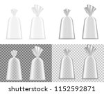 transparent blank foil or paper ... | Shutterstock .eps vector #1152592871