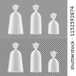 transparent blank foil or paper ... | Shutterstock .eps vector #1152592874