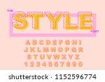 vector of modern bold font.... | Shutterstock .eps vector #1152596774