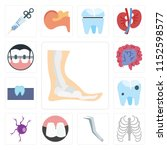 set of 13 simple editable icons ... | Shutterstock .eps vector #1152598577