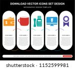 5 vector icons such as wallet... | Shutterstock .eps vector #1152599981