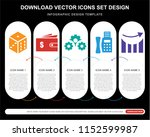 5 vector icons such as dice ... | Shutterstock .eps vector #1152599987