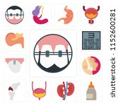 set of 13 simple editable icons ... | Shutterstock .eps vector #1152600281