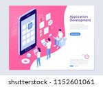 application development vector... | Shutterstock .eps vector #1152601061