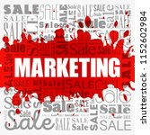 marketing sale word cloud... | Shutterstock .eps vector #1152602984