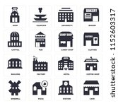 set of 16 icons such as cafe ...