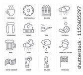 set of 16 icons such as union...