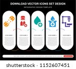 5 vector icons such as plaster  ... | Shutterstock .eps vector #1152607451