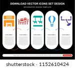 5 vector icons such as... | Shutterstock .eps vector #1152610424