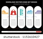 5 vector icons such as roller... | Shutterstock .eps vector #1152610427