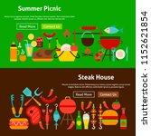 bbq grill picnic website... | Shutterstock .eps vector #1152621854