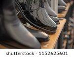 black leather feet for men | Shutterstock . vector #1152625601