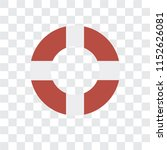 lifebuoy vector icon isolated...   Shutterstock .eps vector #1152626081