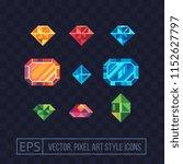 precious stone pixel art icons... | Shutterstock .eps vector #1152627797