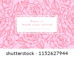 Stock vector vintage card with rose flowers floral wreath flower frame for flowershop with label designs 1152627944