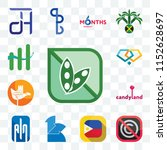 Set Of 13 transparent editable icons such as soy free, no copyright, philippine flag, 111, ain, candyland, chandigarh, jewlery, continuous improvement, web ui icon pack