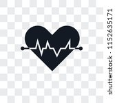 cardiogram vector icon isolated ... | Shutterstock .eps vector #1152635171