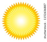 sun icon with jags as vector on ... | Shutterstock .eps vector #1152636887