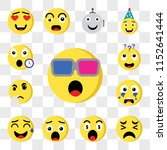 set of 13 transparent editable... | Shutterstock .eps vector #1152641444
