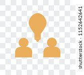 brainstorm vector icon isolated ... | Shutterstock .eps vector #1152642641