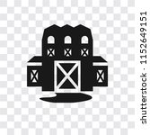 barn vector icon isolated on... | Shutterstock .eps vector #1152649151