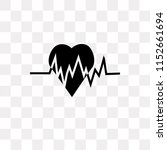heart beat vector icon isolated ... | Shutterstock .eps vector #1152661694
