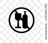 no alcohol vector icon isolated ... | Shutterstock .eps vector #1152661781