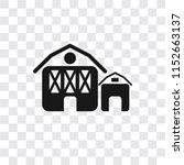 barn vector icon isolated on... | Shutterstock .eps vector #1152663137