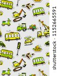 funny cars seamless pattern.... | Shutterstock .eps vector #1152665591