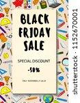 back to school sale flyer card. ... | Shutterstock .eps vector #1152670001