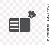 recipe vector icon isolated on... | Shutterstock .eps vector #1152674477