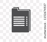 recipe vector icon isolated on... | Shutterstock .eps vector #1152674537