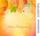 bokeh autumn background with... | Shutterstock .eps vector #1152675221